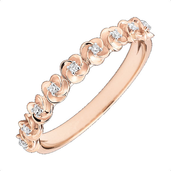 bague Edenly or rose diamants