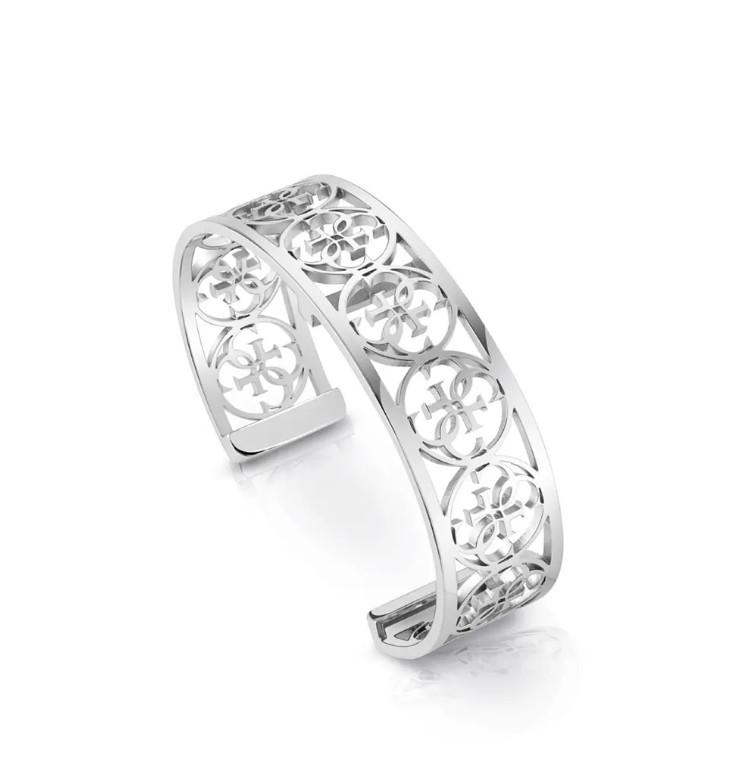 bracelet-manchette-rhodié-Guess