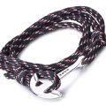 bracelet-corde-pas-cher-tressée-homme-avec-ancre