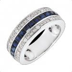 Bague saphirs bleus et diamants Edenly