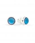 Boucles d'oreilles Guess pierre bleue