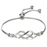 Bracelet infini argenté Ellen Bijoux