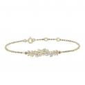 Bracelet Edenly en or feuilles et diamants