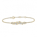 Bracelet Edenly en or feuilles et diamants
