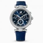 Montre Swarovski bracelet bleu pour femme